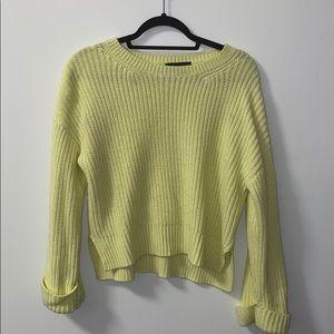 Sanctuary neon yellow sweater